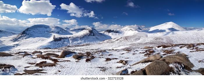 Mourne Mountain Winter Panorama