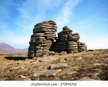 Mourne Mountains, County Down, Northern Ireland. Rocky outcrop on Slieve Binnian.