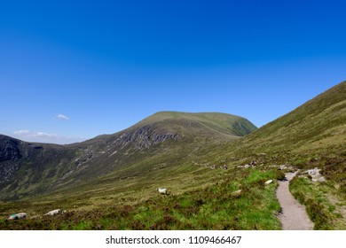 The Mourne Mountains in Northern Ireland on a sunny summers day.