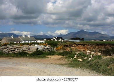 Mourne Mountains seen from beach in Kilkeel, Northern Ireland