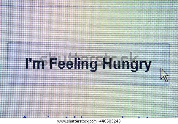 The mouse arrow is stuck in the i`m feeling hungry
