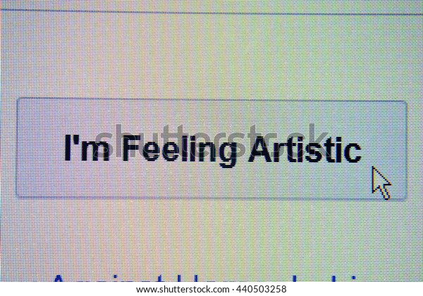 The mouse arrow is stuck in the i`m feeling artistic