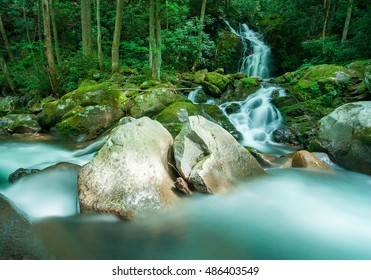 Mouse Creek Falls in the Great Smoky Mountains, NC