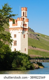 The Mouse Tower (locally known as Maeuseturm) located in the rhine valley was destroyed and rebuilt many times. It was mainly used as official customs collection tower and as signal tower.