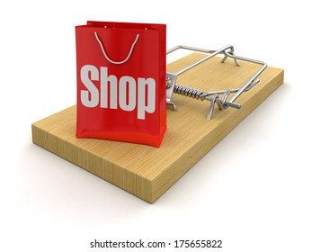 Mousetrap and bag Shop (clipping path included)