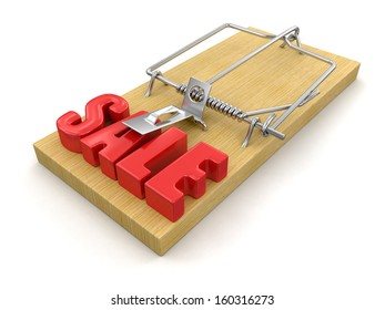 Mousetrap and sale (clipping path included)