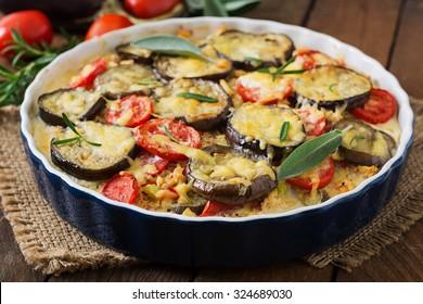 Moussaka (eggplant casserole) - a traditional Greek dish