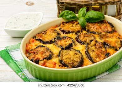 Moussaka - greek casserole with eggplants.