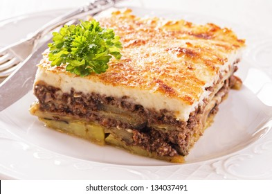 moussaka with minced meat
