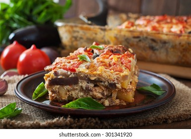 Moussaka - a traditional Greek dish