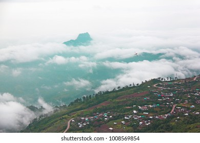 moutain in the mist