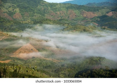 moutain view landscape in Nan, Thailand