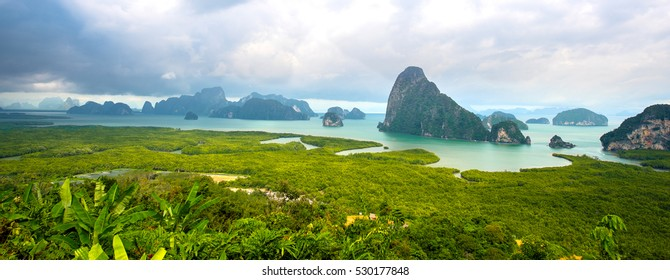 moutain view with sunrise, at Pha-Nang-She in Phang-Nga,point unseen in Thailand travel location.
