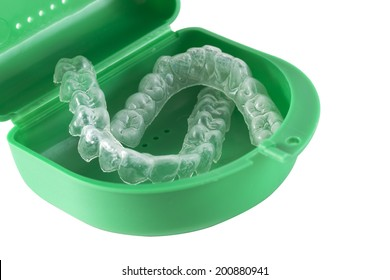 Mouth Guard - Orthodontic Retainers isolated on white / Orthodontic Retainers