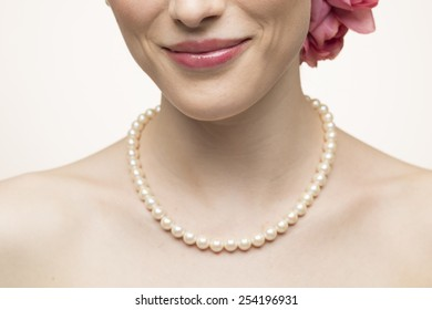 Mouth of a smiling beautiful woman