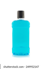 Mouthwash isolate on white background