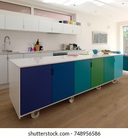 Kitchen Island On Casters Images Stock Photos Vectors