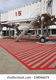 Movable unoccupied jetway - Donmuang International Airport, Thailand