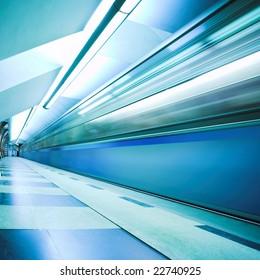 Move train on underground station