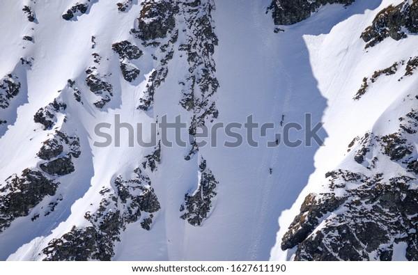 movement in alpine terrain, Tatra Mountains - Slovakia