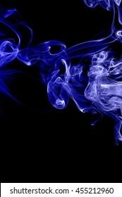 movement of blue smoke,Abstract blue smoke on black background, blue background,blue ink background,beautiful color smoke