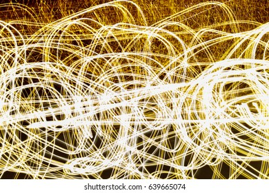 Movement of light on a black background