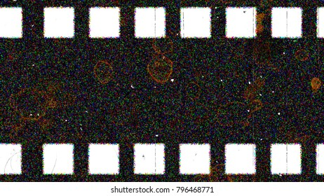 Movement of the old film on the screen.