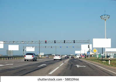 Movement on a transport highway in a city