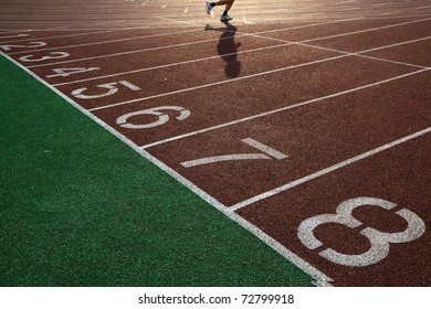 Movement of people in track and field