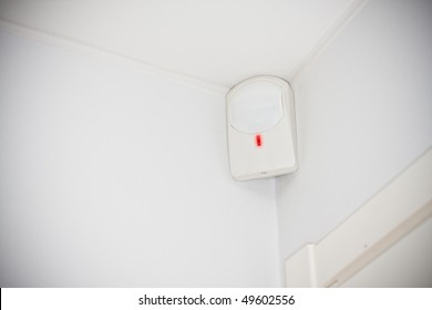 movement sensor, part of a burglar alarm system