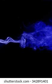movement of smoke, abstract blue smoke on black background, smoke background ,blue smoke background, blue ink