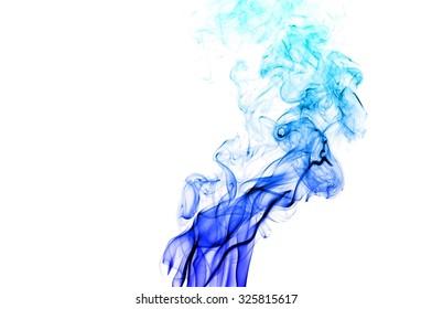 movement of smoke, Abstract Light blue smoke on white background, Light blue background,Light blue ink background