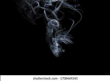 movement of smoke on black background, smoke background, abstract smoke on black background