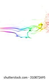 Movement of smoke,Abstract colorful smoke on white background, smoke background,colorful ink background,rainbow smoke, beautiful smoke