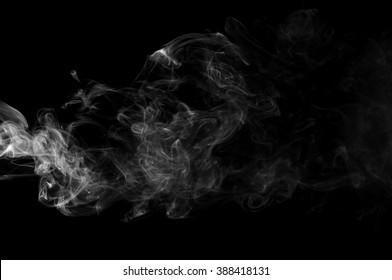 Movement of smoke,beautiful white smoke,B&W