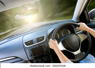 movement speed inside car view