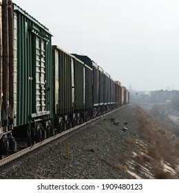 The movement of train cars