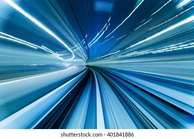 Movement of tunnel in blue