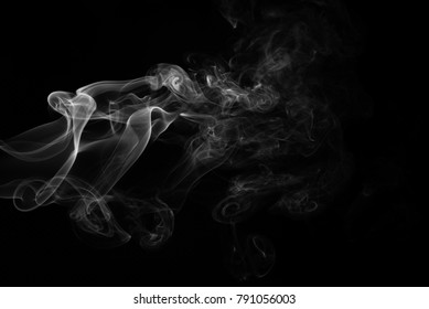 Movement of white smoke abstract background