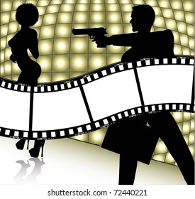 movie background (also available vector version of this image)