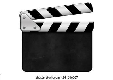 movie clapper, blank