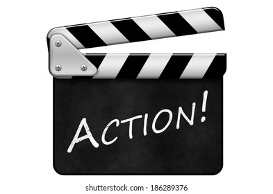 movie clapper, clapperboard, Action