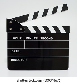 Movie clapperboard isolated on a white background