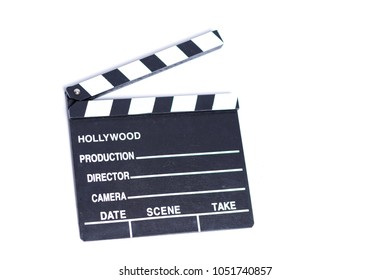 Movie clipper isolated on white background