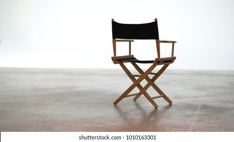 Movie Director Chair on studio, Foldable chair.