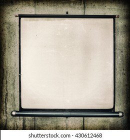 Movie Projector Screen, noise added