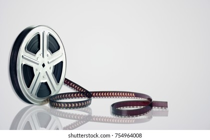 Movie Reel on White Background
