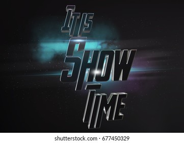 movie style background, show time