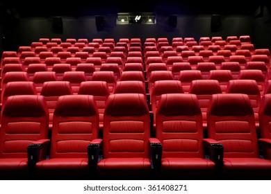 movie theater empty auditorium with seats