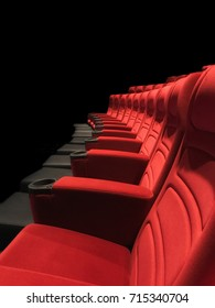 Movie theater seats New unused red theater seats made of smooth velvet. First row in movie theater seat is best place to see the movie.
